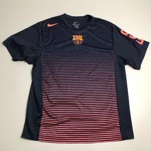 Nike Dri Fit Barcelona FCB Soccer Jersey Mens XL